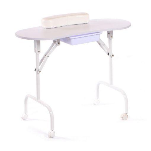 Portable Manicure Table White