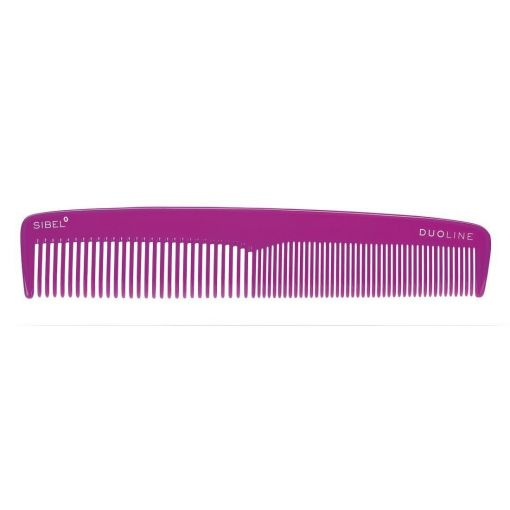 Sibel Duoline Cellulose Acetate Hairdressing Pink Comb