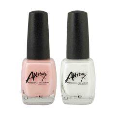 Attitude Vanilla Cream French Manicure Set 2 x 15ml