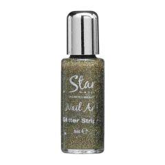 Star Nails Gold Glitter Striper