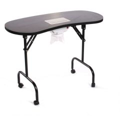 Portable Manicure Table And Dust Collector Fan Black