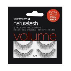 Salon System Naturallash Volume Strip Eyelashes 100 Black