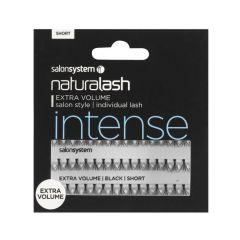 Salon System Individual Lashes Flare Black - Short Extra Volume (Intense)