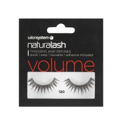 Salon System Naturalash Strip Lashes - 120 Black (Volume)