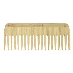 Sibel Bamboo B3 Wooden Antistatic Afro Comb