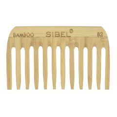 Sibel Bamboo B2 Wooden Antistatic Afro Comb