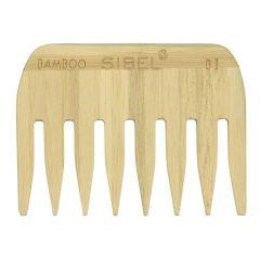 Sibel Bamboo B1 Wooden Antistatic Afro Comb