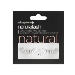 Salon System Naturalash Strip Lashes - 040 Black Underlash (Natural)