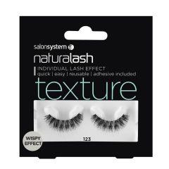 Salon System Naturalash Strip Lashes - 123 Black (Texture)