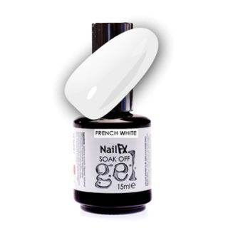 NailFX Soak Off Gel Polish French White 15ml
