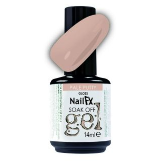 NailFX Soak Off Gel Polish Pale Putty 15ml