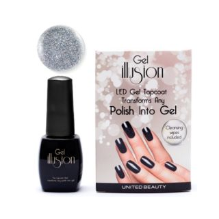 Gel Illusion Silver Glitter 14ml