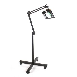 LED Magnifying Lamp on Stand Black