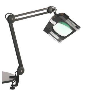LED Magnifying Lamp Black