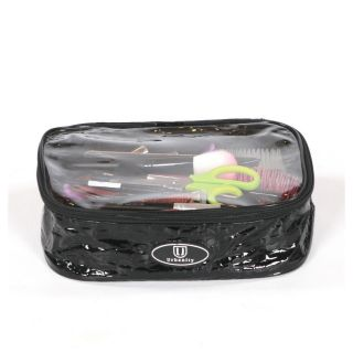 Urbanity Chic Cosmetic Bag Black Crocodile