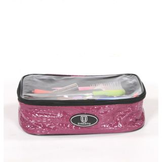 Urbanity Chic Cosmetic Bag Purple Crocodile