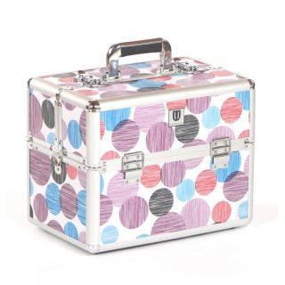 Urbanity Classic Beauty Case Purple Spots