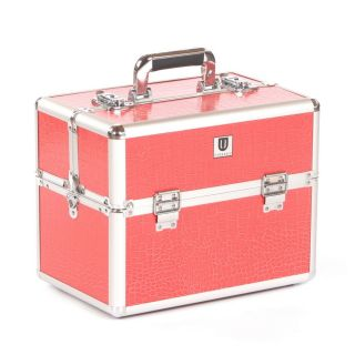 Urbanity Classic Beauty Case Pink Crocodile