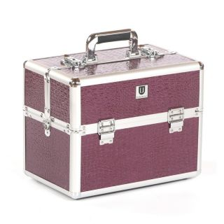 Urbanity Classic Beauty Case Purple Crocodile