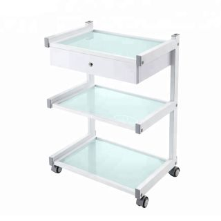 Star Trolley White with 1 Drawer