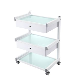 Star Trolley White with 2 Drawers