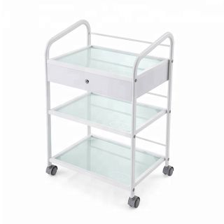 Classic Trolley White 1 Drawer
