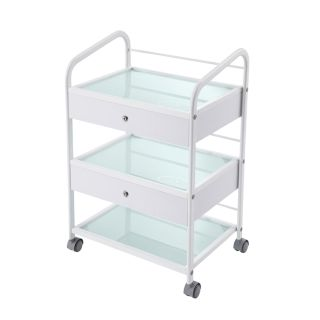 Classic Trolley White with 2 Drawers