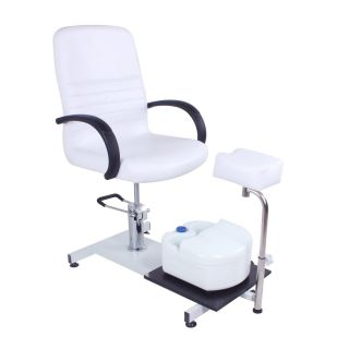 Hydraulic Pedicure Chair White