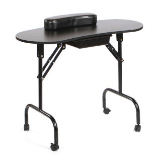Portable Manicure Table Black
