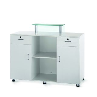 Elite Reception Desk White