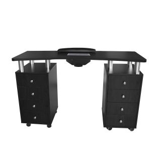 Astro Manicure Table With Extractor Fan Black