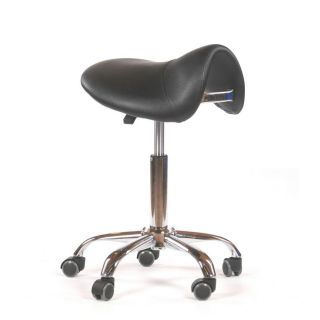 Saddle Salon Stool Black