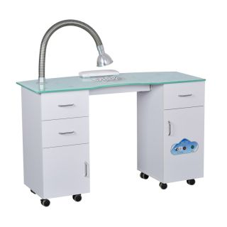 Centenary Manicure Table With Dust Extractor Fan White