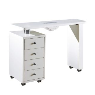 Rio Manicure Table With Dust Extractor Fan White