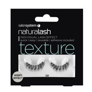 Salon System Naturalash Strip Lashes - 121 Black (Texture)