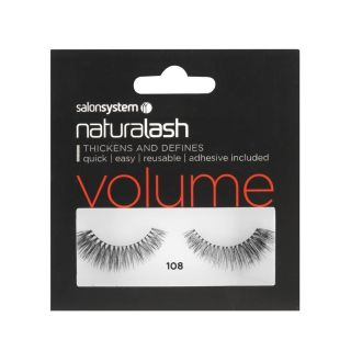 Salon System Naturalash Strip Lashes - 108 Black (Volume)
