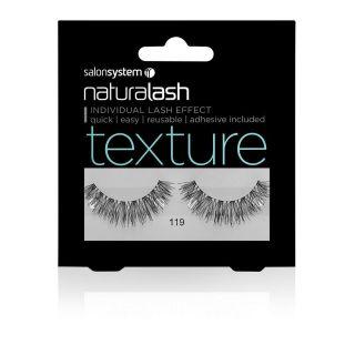 Salon System Naturalash Strip Lashes - 119 Black (Texture)