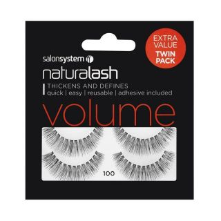 Salon System Naturallash Volume Strip Eyelashes 100 Black