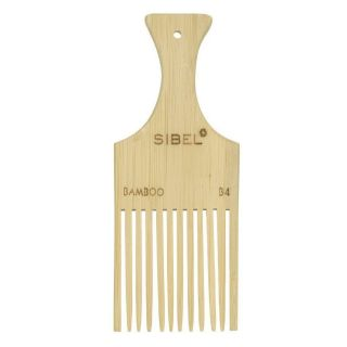 Sibel Bamboo B4 Wooden Antistatic Afro Comb