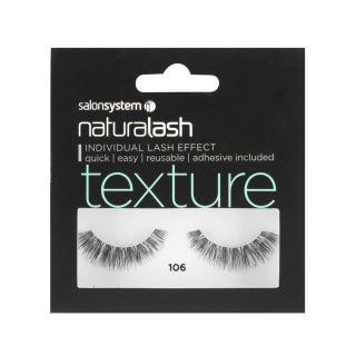 Salon System Naturalash Strip Lashes - 106 Black (Texture)