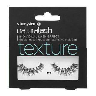 Salon System Naturalash Strip Lashes - 117 Black (Texture)