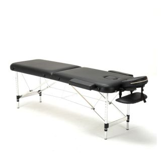 Portable Massage Table Bed Lightweight Beauty Salon Therapy Tattoo Couch Black