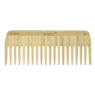Sibel Bamboo B3 Wooden Antistatic Afro Comb