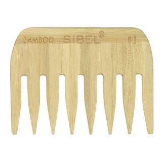 Sibel Bamboo B1 Wooden Antistatic Afro Comb