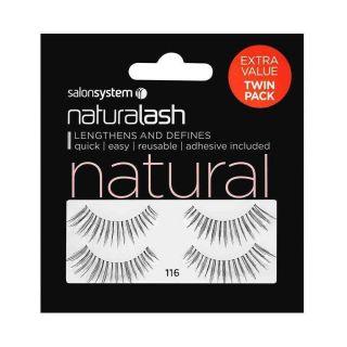 Salon System Naturalash Strip Eyelashes 116 Black Natural