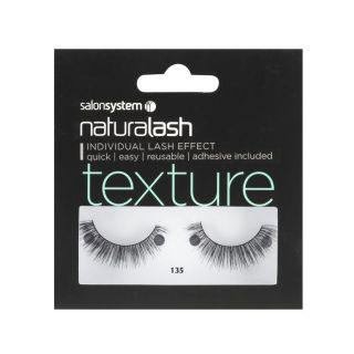 Salon System Naturalash Strip Lashes - 135 Black (Texture)